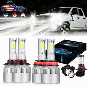 Led Headlight Fog Light Bulbs For 2009 2010 2011 2012 Dodge Ram 1500 2500 3500