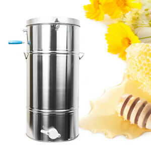 Two 2 4 Frame Honey Extractor Stainless Steel Beekeeping Equipment Durable