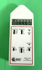 Quest Technologies Model 2700 Impulse Sound Level Meter Free Shipping