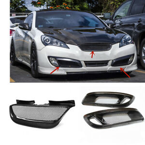 Car Front Mesh Grille Fog Light Cover Trim For Hyundai Genesis Coupe 2008 2012