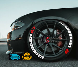 Tire Lettering Dodge Charger R T Permanent Stickers Wheel 14 24 Decal Set 1 25