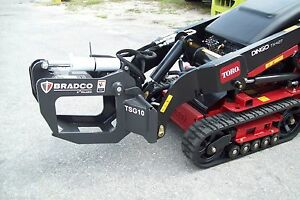 Mini Skid Steer Loaders Tree And Shrub Grapple by Bradco Fits Most Mini Loaders