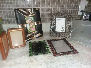Lot 6 Beautiful Vtg Stylish Metal Picture Frames Holds 5 7 3x5 4 6 Photo
