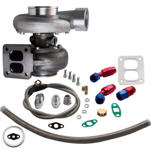 Gt45 Universal Turbo Charger 1 05 A r Oil Drain Feed Return Line Kits