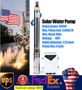 3 600w Solar Water Pump Dc Deep Well Submersible Pump 3 000l Mppt Controller