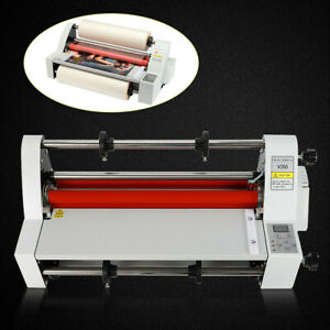 Upgraded Four Rollers Hot Cold Roll Laminator Laminating Machine 350mm Full Mute