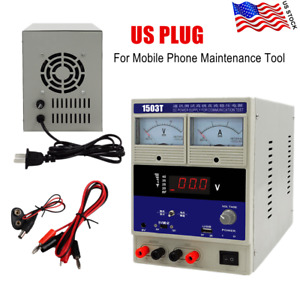 0 15v Dc Adjustable Regulated Power Supply Mobile Phone Repair Led Display Us