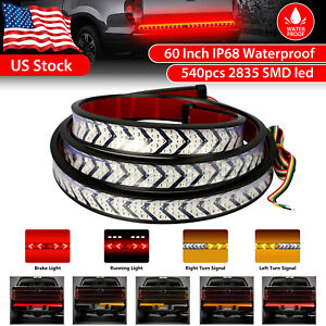60 540 led Truck Tailgate Light Bar Strip Reverse Brake Turn Signal Tail Lamp