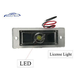 Universal Rear Led License Plate Lamp Light For Roll Pan