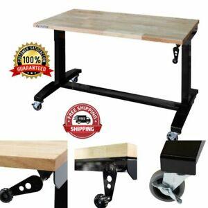Desk Work Table Workstation 46 In Adjustable Height 29 In X 46 In X 24 In New