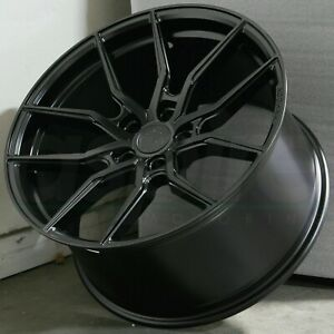Aodhan Aff1 20x10 5 45 5x114 3 Matte Black Wheels Set 20 Inch Rims Set Of 4