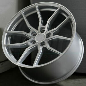 20x10 5 45 Flow Forged Aff1 5x114 3 Concave Wheels Silver Rims 20 Inch Set 4