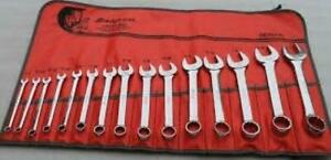 Snap On 15 Pc 12 Point Sae Short Combination Wrench Set 1 4 1 Oexs715k