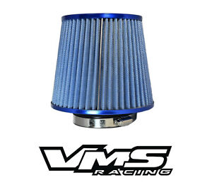 Vms Racing Blue 3 Inch Intake High Flow Air Filter For Ford Mustang Gt Cobra