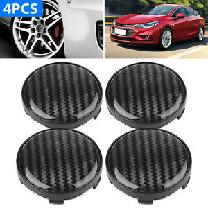 4pcs Universal Chrome Car Wheel Center Caps Replace Rim Hub Cover Abs Black 60mm