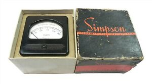 Vintage Simpson A c Voltmeter 300 Volts New 3 x 3 W mounting Hardware Model 57
