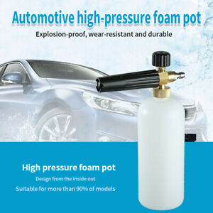 Foam Lance Snow Cannon Pressure Washer Gun Car Foamer Wash Quick Adapter Jet