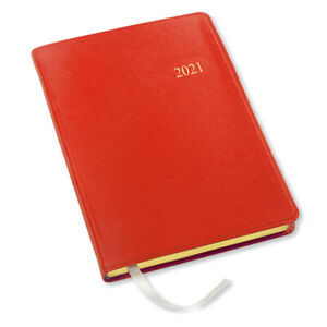 2021 Simulated Desk Weekly Planner 192 Pages 8 x5 5 Key West Red