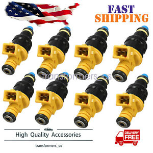 Set 8 Flow Matched Fuel Injectors For Ford 4 6 5 0 5 4 5 8 Replaces 0280150943