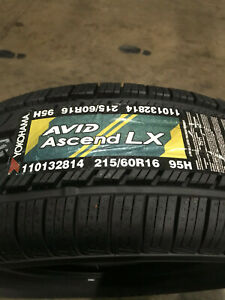 2 New 215 60 16 Yokohama Avid Ascend Lx Tires