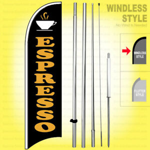 Espresso Windless Swooper Flag 15 Kit Sign Wb h