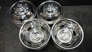 Dodge 2500 3500 Pick up Truck Front Rear Wheels Rims Stainless Caps 16