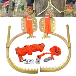 Tree Climbing Gear Spike Set Tool F Hunting Survival Electrician W Safety Belt
