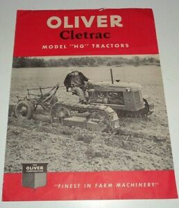 Oliver Cletrac Hg Crawler Tractor Sales Brochure Literature Dealers Hand out Ad