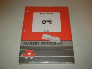 Massey Ferguson Mf 253 Tractor Parts Manual Issued 1995