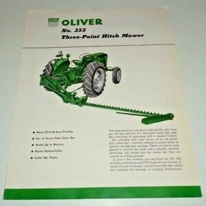 Oliver 355 Three point Hitch Mower Sales Brochure Spec Sheet Literature 5 57