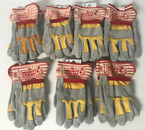North Star 1962 Mighty Champ Leather Work Gloves Medium Lot Of 7 New