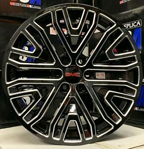 22 2019 Gmc Yukon Sierra Black Milled Mesh Wheels Chevy Silverado Rims New Styl