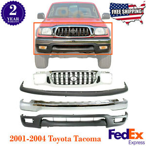 Front Chrome Bumper Filler Valance Grille For 2001 2004 Toyota Tacoma 4wd