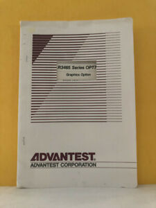Advantest Oeb00 9608 R3465 Series Opt76 Graphics Option Operation Manual