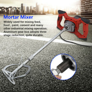 1500w Electric Mortar Mixer Dual High Low Gear 6 Speed Paint Cement Grout New Us