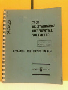 Hp 00740 90002 740b Dc Standard differential Voltmeter Operating service Manual