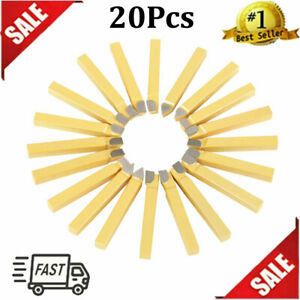 20 Pcs 3 8 Inch Carbide Tip Tipped Cutter Tool Bit Set For Metal Lathe Tooling