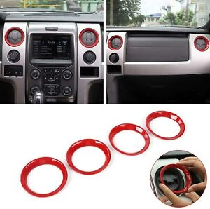 Car Central Console Air Conditioner Vent Trim Ring Cover For 2009 2014 Ford F150
