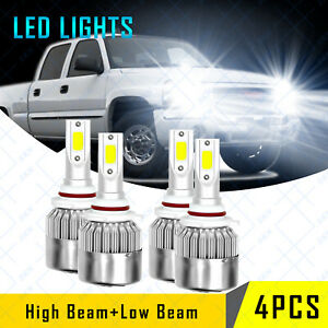 Combo Led Headlight Bulbs For Gmc Sierra 1500 2500 Hd 2001 2006 High Low Beam