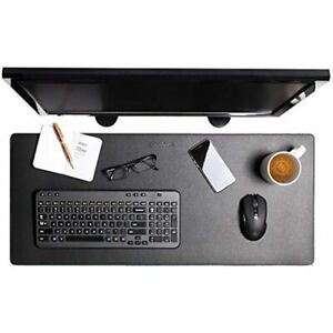 Enhance Pu Leather Mouse Pad Faux Desk Mat Protector Extra Large Water And