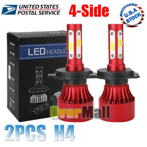 Cree H4 Led Headlight Kit Light Bulbs Hi lo Beam 6000k 9003 Hb2 8000w 600000lm