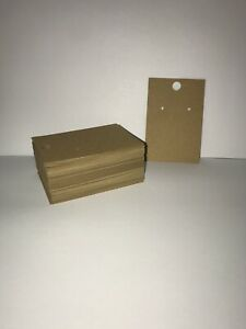 Earring Cards For Display 100 Pcs Kraft Paper Earring Display Cards 2x3 Inches