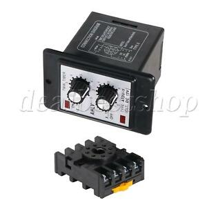 Plastic Dc12v 0 6s Time Relay Adjustable Timer Delay Turn On off Switch