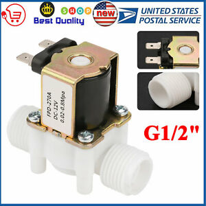 12v G1 2 Plastic Electric Solenoid Valve Magnetic Water Air N c Normally Closed