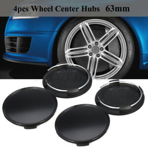 4x 63mm Universal Car Auto Wheel Center Hubs Caps Covers No Logo Emblem Badge Us