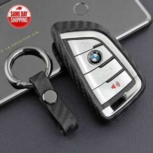 Carbon Fiber For Bmw X Remote Key Fob Case Shell Keychain Protect Gift M Power