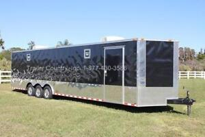 New 2020 8 5 X 32 8 5x32 Enclosed Race Cargo Car Hauler Trailer Loaded