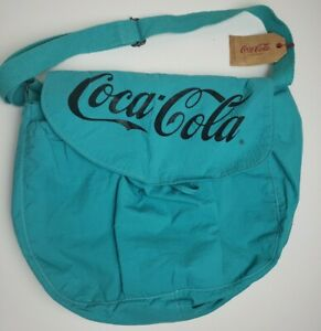 Coca Cola Collectibles 1986 Vintage Teal Crossbody Messenger Bag NOS New w/ Tags