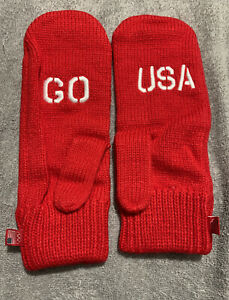 Coca Cola Olympics Go USA Red Mittens One Size Adult
