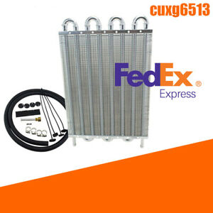 8 row Aluminum Oil Cooler Cool Down Engine Transmission Radiator Accessories Kit